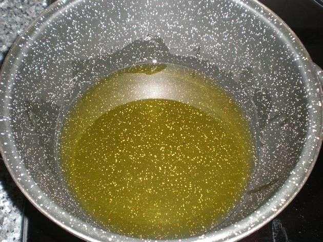 Aceite de oliva en freidora