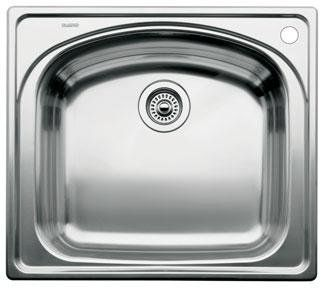 Blanco Wave Single Drop In Kitchen Sink - Bowl Depth 8