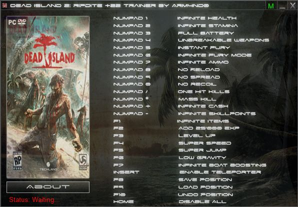 Dead Island Cheats Infinite Health