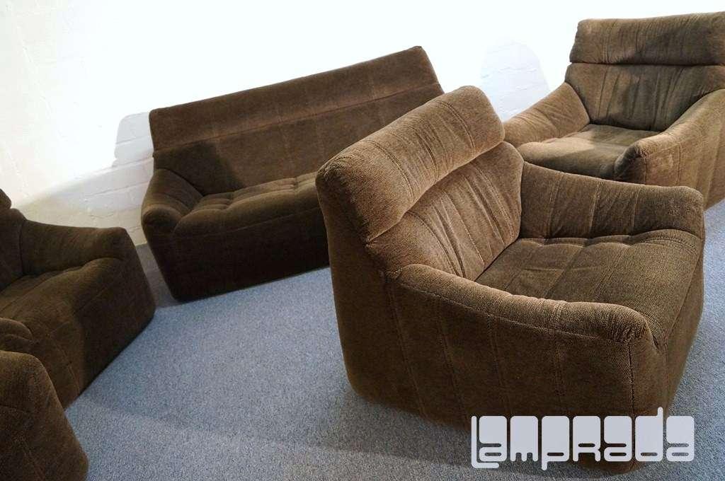 2 sitzer rolf benz sofa aus set komplett polsterweich im togo roset stil 70er ebay. Black Bedroom Furniture Sets. Home Design Ideas