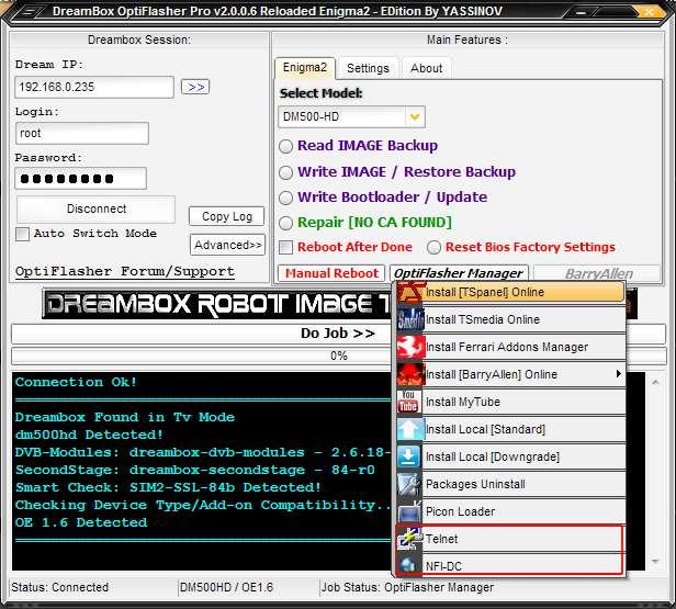 Dreambox OptiFlasher v2 0 0c Pro Enigma2 EDition Released